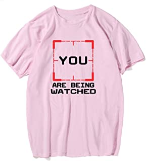 You are Being Watched Men's T-Shirt O-Neck Cotton Tshirt 2018 Streetwear Men's Family Shirt
