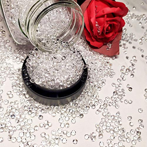 HAVII 4.2mm 10000pcs Acrylic Crystal Diamond for Vase Fillers Table Scatter Wedding Decoration Event Party Supply DIY Arts & Crafts, Clear