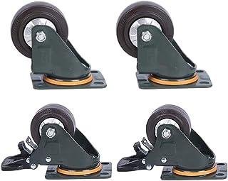 LYQQQQ 4 stks Meubelwielen, Medium Rubber Hoge Elasticiteit Universeel Wiel,Trolley Flatbed Truck Industry Castor Wielen,V...
