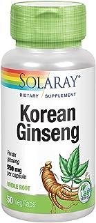 Solaray Korean Ginseng 550 mg   Healthy Stress, Energy & Physical Endurance Support   50 VegCaps