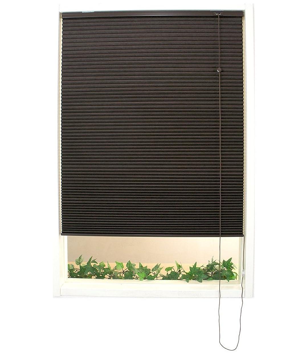 インディカエアコンみサイズオーダー ロールスクリーン ハニカムシェード JQ14 [Bee Bee シングルプレーンタイプ] ■ブラウン【S103】 ▼幅61-90、丈151-180cm