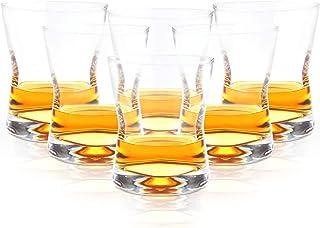 Stimo 6er Set Whiskygläser in PREMIUMQUALITÄT I Whisky Glas in edlem Design I Spülmaschinengeeignet I Whiskey Tumbler