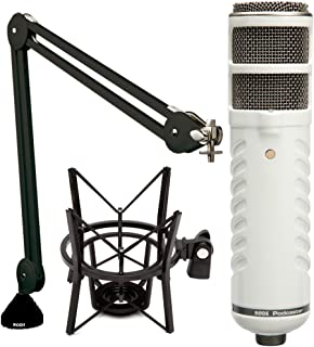 Rode Podcaster Microphone with Boom Arm and Shock Mount