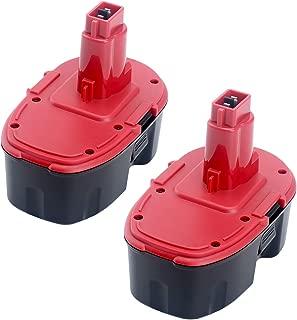 Elefly 2 Pack DC9096 18V 3.5Ah NI-CD Replacement Battery for Dewalt 18-Volt XRP Battery DC9096 DE9039 DE9095 DE9096 DE9098 DW9096 DW9095 DW9098 Cordless Power Tools