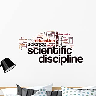 Wallmonkeys Scientific Word Cloud Wall Decal Peel and Stick Educational Graphics (36 in W x 24 in H) WM74122