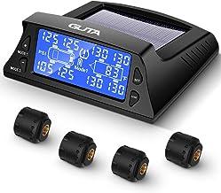 GUTA Tire Pressure Monitoring System - 4 External Sensor(0-188 PSI) tpms, 6 Alarm Modes, High-end Backlight LCD Display, A...