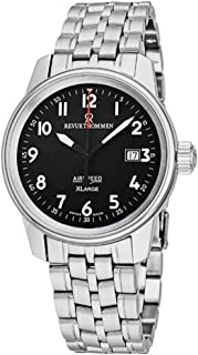 Revue Thommen Air Speed XLarge Self Winding Black Dial Swiss Watch - Stainless Steel Swiss Automatic Dress Watch for Men 16052.2137