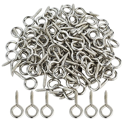 Wobe 100pcs Small Screw Eye, Eye Shape Screw Hooks 1