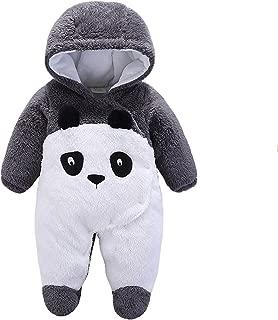 Gaorui Newborn Baby Jumpsuit Outfit Hoody Coat Winter Infant Rompers Toddler Clothing Bodysuit Cartoon