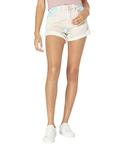 Blank NYC Multicolor Spray The Reeve High-Rise Denim Shorts w/ Cuff in Turn It Up
