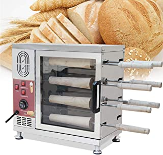 vinmax Electric Ice Cream Cone Kurtos Kalacs Chimney Cake Roll Maker Oven Machine with Conical Stick Make 110V