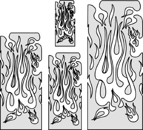 Stencil aerografo Artool Flame Master 'The Multiple' by J. Braet
