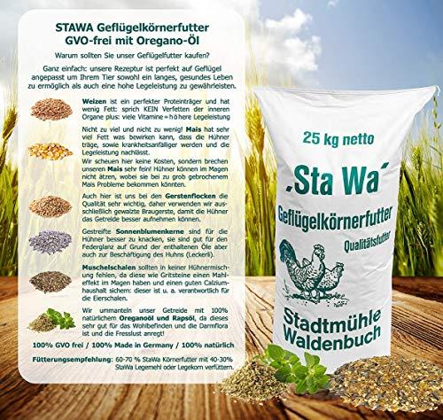 StaWa Hühnerfutter Geflügelkörnerfutter Körnerfutter 25kg !!!GVO frei!!! - 2