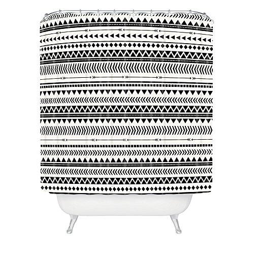 Deny Designs Allyson Johnson Duschvorhang, Aztekenmuster, 175,3 x 182,9 cm, Schwarz/Weiß