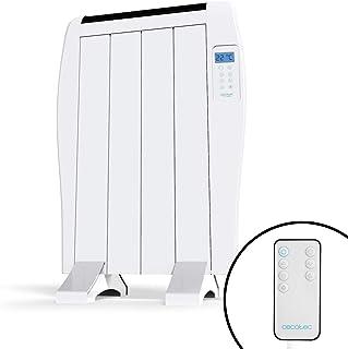 Cecotec Radiador Eléctrico Bajo Consumo Ready Warm 800 Thermal 4 Elementos, 600 W, De pared o pie, 3 Modos, Temporizador, ...