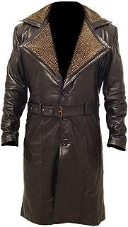 Men's German Classic Fur Long Trench Winter Coat German Long Real Leather Coat