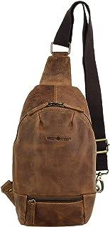Greenburry Vintage Body Crossover Bag Leder Rucksack Backpack Daypack 1612A-25