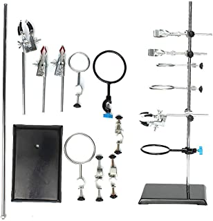 Laboratory Stand Chemistry Lab Flask Support Set with Boss Head and Retort Ring