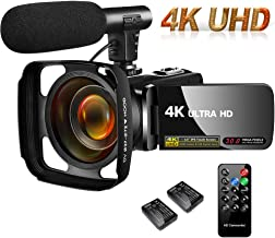 SAULEOO Video Camera Camcorder 4K 30MP Digital Camcorder Camera with Microphone Ultra HD..