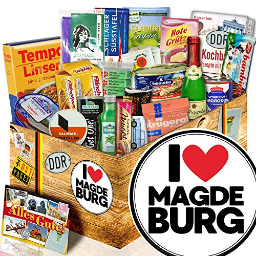 I love Magdeburg - Geschenk Magdeburg - DDR Spezialitäten Set
