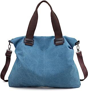 c1cfc1d9ad46 Women s Canvas Shoulder Bags Crossbody Tote Purse Work Travel Weekender Bag