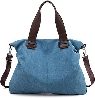 Women's Vintage Hobo Canvas Daily Purse Top Handle Shoulder Tote Handbag