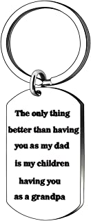 Dad Grandpa Gifts, Keychain for Father Dad Daddy Papa Grandpa Grandfather Thanksgiving Birthday