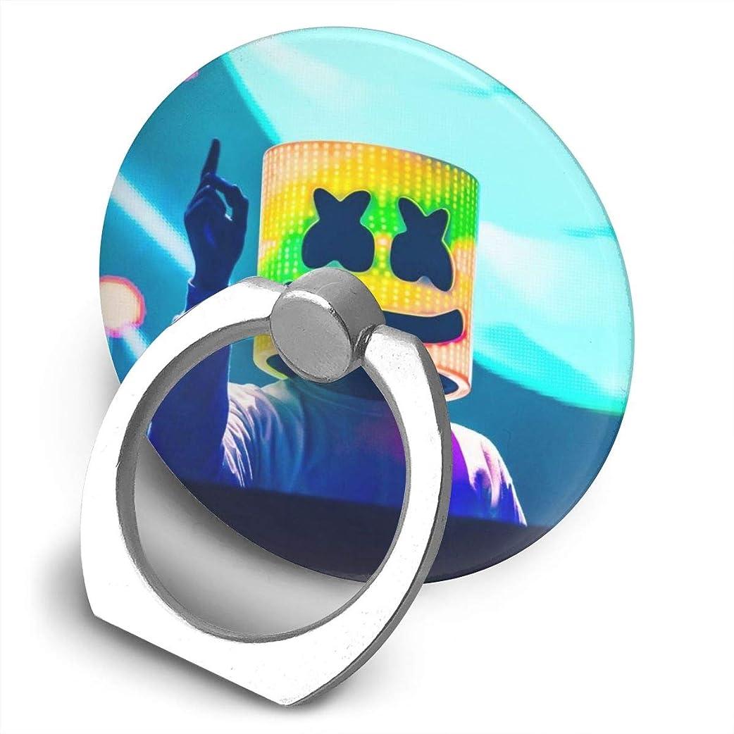 毎日メロディアス生物学Greatayifong マシュメロ Marshmello バンカーリング スマホ リング かわいい ホールドリング 薄型 スタンド機能 ホルダー 落下防止 軽い 360 回転 IPhone/Android各種他対応 (シルバー)