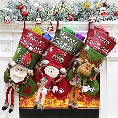Ecent Calze di Natale Calze Regalo Decorazione