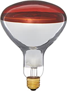 Pyramid Bulbs 64965 Heat lamp bulb 250 Watts R40 Reflector infrared light Red Medium E26 Base Incandescent Heat Lamp Light Bulb