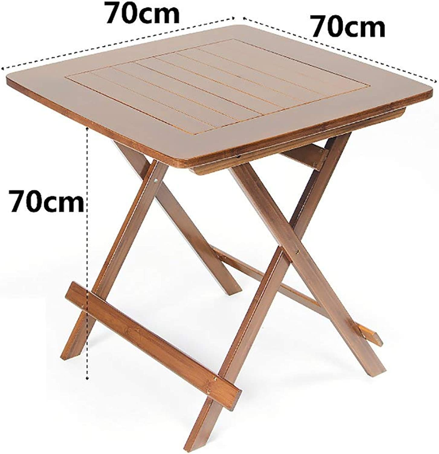 Living Office Simple Storage Table FPF Folding Tables Leisure Table Simple Dining Table Learning Table Bamboo Folding Table (3 Sizes Optional) Easy to Move and Carry (Size   LWH  70  70  59cm)