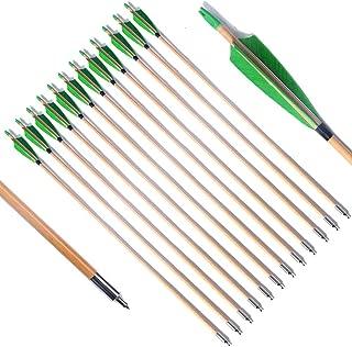 PG1ARCHERY Wooden Arrows Practice Hunting Arrow 5