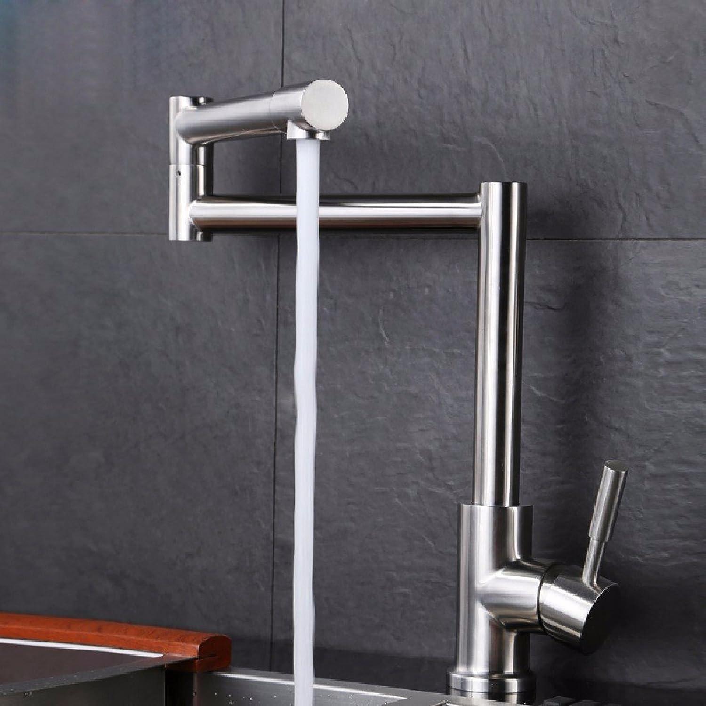 HQLCX Küchenarmatur Die Küche Kalt - Hei Wasserhahn 304 Stahlspülbecken Waschbecken Becken Falten Knnen Drehbare Wasserhahn