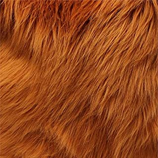 Faux Fur Mongolian Caramel 60 Inch Wide Fabric By the Yard (F.E.®)