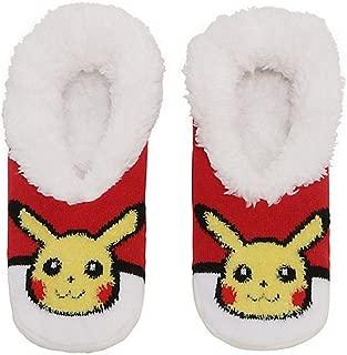 High Point Design Pokemon Slip-On Pikachu Poke Ball Slippers Red, White