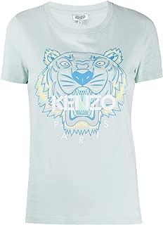 KENZO Luxury Fashion Womens F962TS7214YB46 Light Blue T-Shirt | Fall Winter 19