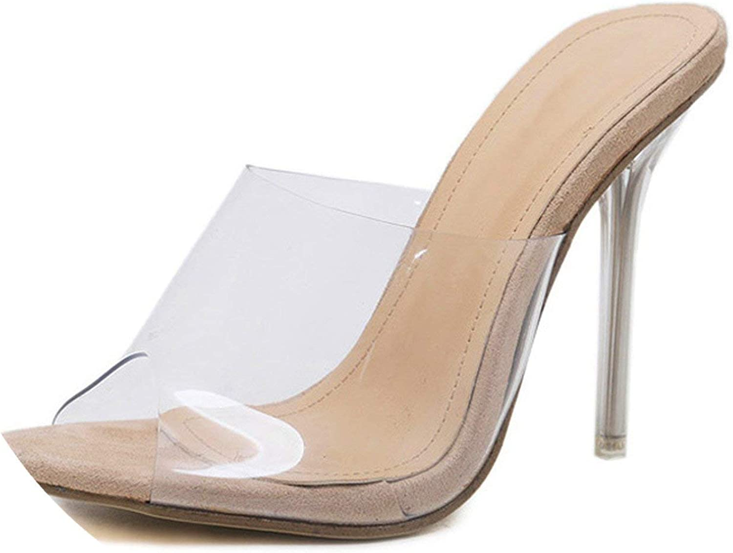 Our ideas 2019 New PVC Jelly Sandals Crystal Open Toed Sexy Thin Heels Crystal Women Transparent Heel Sandals Slippers Pumps