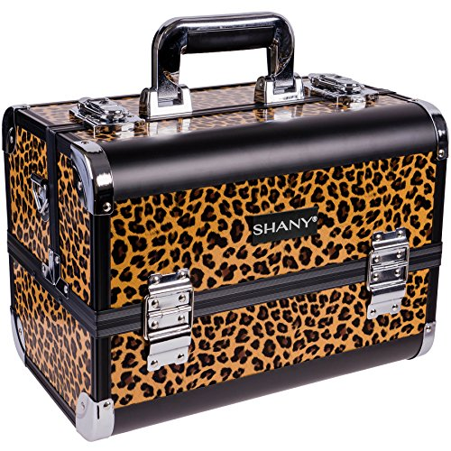 SHANY Premier Fantasy Collection Makeup Artists Cosmetics Train Case - Leopard texture