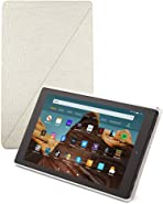 Fire HD 10 tablet case | Compatible with 9th generation tablet (2019 release), Sandstone White