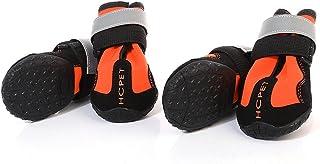 Baosity 4-Set Dog Rain Shoes Dog Boots Clothes for Medium to Large Samoyed Husky Chow