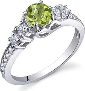 engagement rings with august birthstone