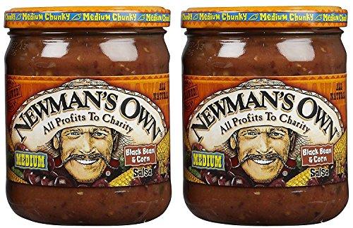 Newman's Own Salsa Medium Chunky Black Bean & Corn 16 oz