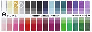 Handy Fabric Color Swatch Deep Winter with 30 Colors for Color Analysis and Image Consulting