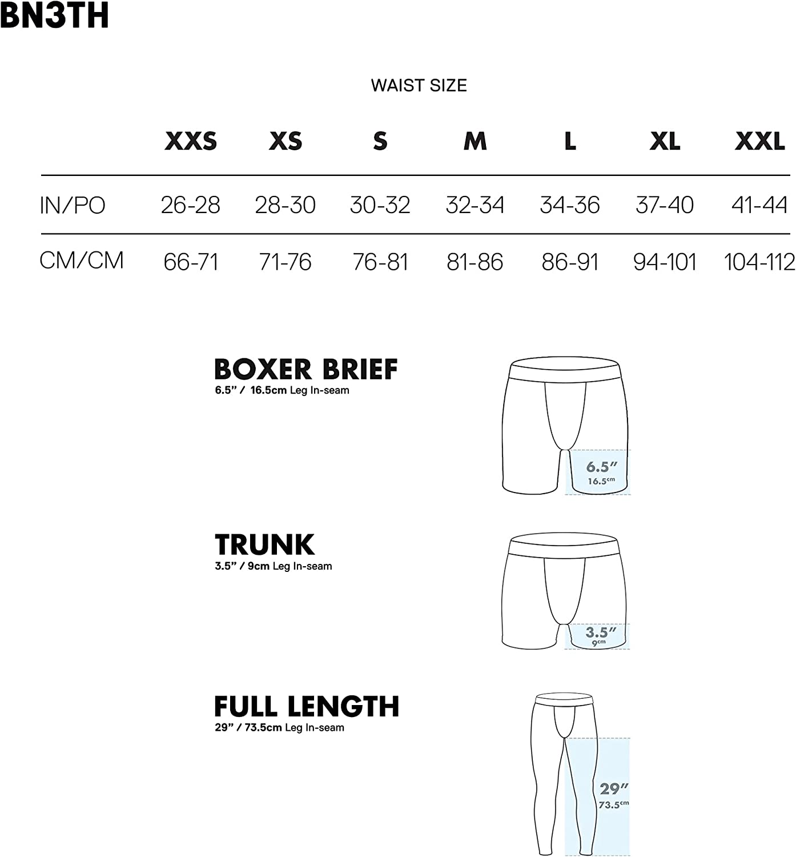 BN3TH Men's Classic Boxer Briefs - Underwear with MyPakage Pouch, Tropicana