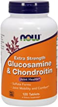 Now Supplements, Glucosamine & Chondroitin Extra Strength, Sulfate Forms, 120 Tablets