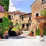 Makeyong Mediterrane Stadt Landschaft 3D Fototapete Für Kinder Babyzimmer Tv Hintergrund 3D Fototapete Aufkleber-200X140cm