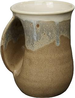 Clay in Motion Desert Sand Handwarmer Mug, Left Hand