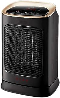 HQCC Mini Calefactor eléctrico portátil con Ahorro de energía, Calentador de 3 Segundos en el hogar/Oficina / Dormitorio, Control Remoto de 3 velocidades Command-1800W Negro (Color : Negro)