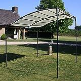 <span class='highlight'><span class='highlight'>Festnight</span></span> Fabric Large Garden Gazebo Backyard Shelter Canopy with Steel Frame Cream White
