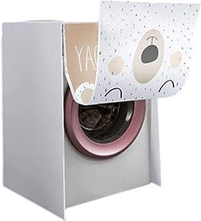 bulrusely Cubierta para lavadora, protector solar a prueba de polvo para protección de la lavadora de carga frontal, tipo ...